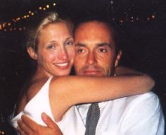 1996 - Carolyn and the late Anthony Radziwill (John's cousin and best friend) at the wedding.