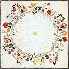 Floral Wreath Shaker Folk Art