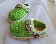 CROCHET PATTERN Baby Shoes - Crochet Booties - Baby Clogs - Tribal Baby Clogs - Baby Shower - DIY Shoes - Crochet Pattern Shoes