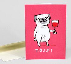 TGIF notecard #pugsincostume Funny Pug Pictures, Pug Photos, Doug The Pug Instagram, Pug Diy, Pugs In Costume, Pug Breed, Pug Cartoon, Creative Writing Ideas, Cute Pugs