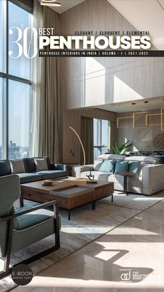 30 Best Penthouses in India is a collection of amazing Elegant, Eloquent, Elemental Penthouse Interiors around the country, with this E-Book we believe to provide design inspiration to the readers Also, well-curated designs from the most innovative and established design firms.