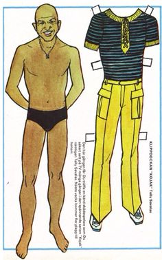Swedish paper doll Telly Savalas as Kojak