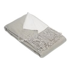 Reversible bamboo-cashmere blend throw with twisted fringe.      Product: Throw  Construction Material:  Bamboo rayon...