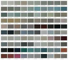 Kleurenkaart van ' l authentique