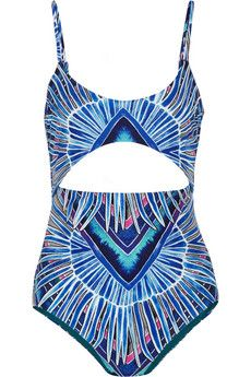Mara Hoffman Rising Palm cutout printed swimsuit | NET-A-PORTER