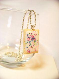 Miniature Food Poptart Kawaii Necklace by kawaiibuddies on Etsy, $15.00