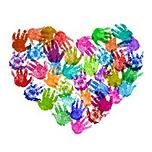 Hand print art Handprint crafts-- I hate handprint art! Kids Crafts, Arts And Crafts, Art Crafts, Auction Projects, Art Projects, Auction Ideas, Class Projects, Valentine Day Crafts, Valentines