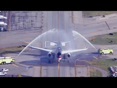Firefighters Give Trump Water Salute as He Takes Off For The White House!!! - YouTube