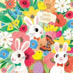 Easter Illustration, Another One, 30 Day, Easter Crafts, Hanging Out, Prompts, Bunny, Bouquet, Sarah Kay