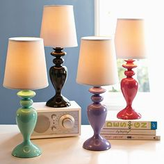 Colorpop Lamp is so colorful. i couldn't pick one to put on the side table! maybe purple?