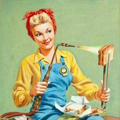 Feminist pinup woman! Vintage!