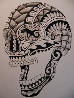 tatuaggio-maori-idea-teschio