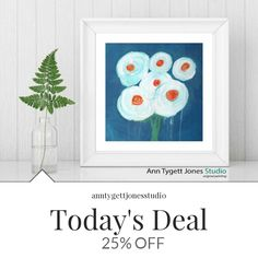 Today Only! 25% OFF this item.  Follow us on Pinterest to be the first to see our exciting Daily Deals. Today's Product: Giclee print of abstract floral painting, white flowers,impressionistic, modern interior wall art, contemporary, original floral, handmade Buy now: https://www.etsy.com/listing/473867964?utm_source=Pinterest&utm_medium=Orangetwig_Marketing&utm_campaign=Daily%20Deal   #etsy #etsyseller #etsyshop #etsylove #etsyfinds #etsygifts #handmade #abstractart #handmadewithlove…
