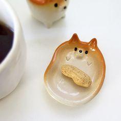 Tiny Dog Dish by Sirosfunnyanimals