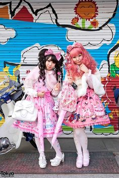 Sweet Lolitas in Harajuku w/ Angelic Pretty Pink & 6%DOKIDOKI