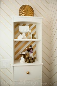The Powder Room - Medicine Cabinet shelf makeover