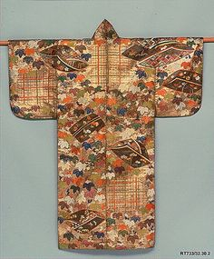 Nuihaku Noh Costume.  Period: Edo period (1615–1868). Date: first half of the 18th century. Culture: Japan. Medium: Embroidery and gold leaf on silk.