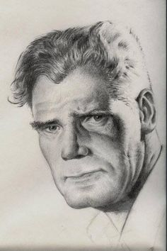 Portrait pencil drawing by Jeronimo Gomez