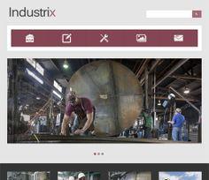 Industrix Free #Responsive #HTML5 #CSS3 #Mobileweb Template