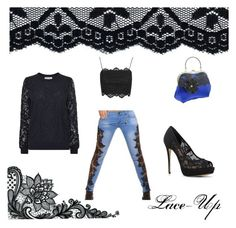 """""""Lace-up"""" by explorer-14762811252 on Polyvore featuring MICHAEL Michael Kors, Topshop, ALDO, lace and blackandwhite"""