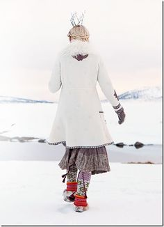 This Winter it's all about Norwegian traditions at Gudrun Sjöden . She has mixed her own style with the old Norwegian fashion traditions and. Norwegian Fashion, Gudrun, Colorful Fashion, Womens Fashion, How To Wear, Folklore, Winter Wonderland, Dresses, Style