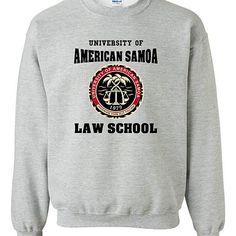 Buy University Of American Samoa Law School DT Novelty Crewneck Sweatshirt by City Shirts on OpenSky