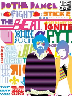 Colourful bright type done by same directors , graphics for PYT .