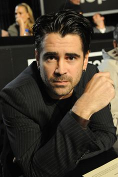 Handsome Colin Farrell at a charity event