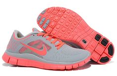finest selection 16eb9 d3c2b Nike Women Free Run 5.0 Wolf Grey Bright Crimson Running Shoes Air Max  Sneakers, Sneakers