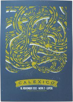 CALEXICO SILKSCREEN GIGPOSTER