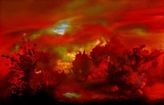 Spectacular atmosphere, paintings by Kim Keever