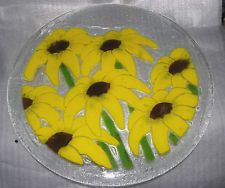 Sunflowers Platter by Peggy Karr 13 3/4