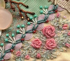 quilting by Sharon Boggon. Would not mind having my clothes embroidered like this!;-)