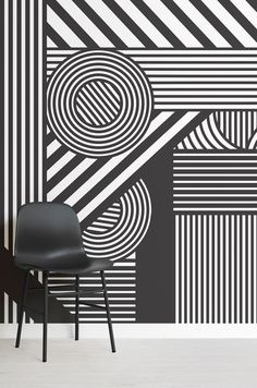 Create a wonderfully dynamic and expressive look in your interior with the Oriz Geometric Black and White Wall Mural. The contrasting shapes and angles in this mural will dominate the attention in any room, making it a great choice for a feature wall, to express character and impress all who see it. This mural will transform your space with minimal effort. #dazzlecamo #dazzledesign #interiordecor #home #wallpaper #mural #striped #geometric #monochrome #modernist