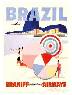 Rio de Janeiro Brazil - Braniff International Airways Posters at AllPosters.com