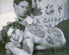 A tattooed lady