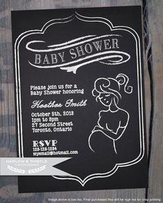 PRINTABLE Baby Shower Invitation  Custom  by HarlowAndThistle, $9.96