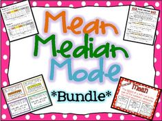Mean, Median, Mode, and Range Bundle Pack! 4 Reference Posters with accompanying students reference-size posters, 36 Task Cards with answer key and recording sheet, and a fun and engaging activity to reinforce 3M+4 with Skittles! Now includes 2 additional activities, Mall Madness Mayhem and Food and Fun FanFare. $