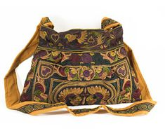 Changnoi Mocha Bird Hill Tribe Crossbody Bag Long Embroidered Strap Made By Hmong Thailand Fair Trade >>> More info could be found at the image url. Ethnic Bag, Yoga Mat Bag, Embroidered Bag, Fashion Bags, Straw Bag, Purses And Bags, Women Accessories, Shoulder Bag, Handbags