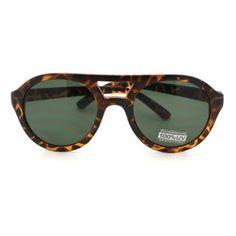 Tortoise Super Thick Plastic Frame Aviator Sunglasses with Black Lens 106Shades. $9.90