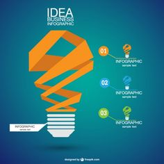 Infographic abstract lightbulb Free Vector