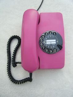 German Vintage Rotary Telephone Pink Old Phone 60s 70s Made by Siemens Germany
