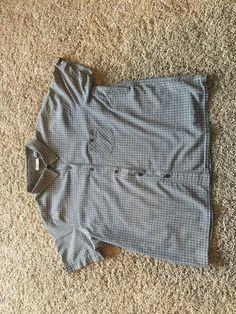 The Original Arizona Jeans Co. Womens XL Short Sleeved Plaid Collar Shirt #Arizona #ButtonDownShirt