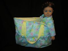 Doll Tote Bag (Doll not included). $18.00, via Etsy.