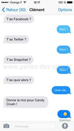 reseaux sociaux perles des sms