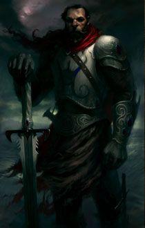 fantasy portrait via PlanetBaldursGate - human paladin