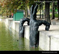 Art modern unusual sculpture