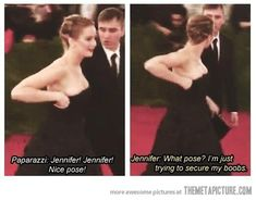 You don't get to be pretty, talented, AND funny Jennifer Lawrence. Seriously!