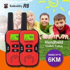 Radioddity R8 Kids Walkie-Talkie 22CH 0.5W GMRS/FRS 2 Way Radio (1 Pair)