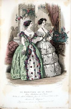 1850s fashion plate from Smithsonian Institution Libraries...